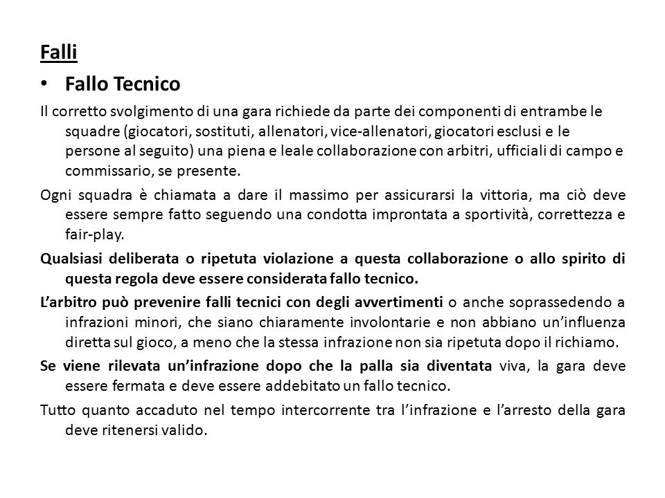 Falli Fallo Tecnico.