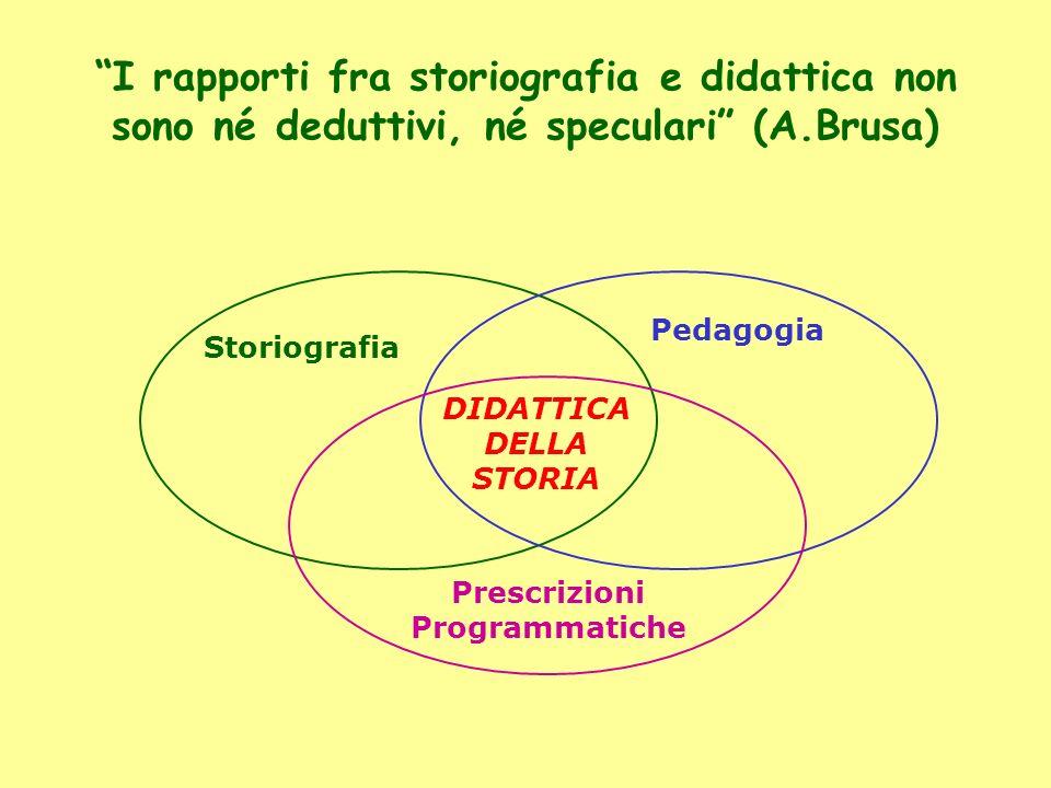 I rapporti fra storiografia e didattica non sono né deduttivi, né speculari (A.Brusa)