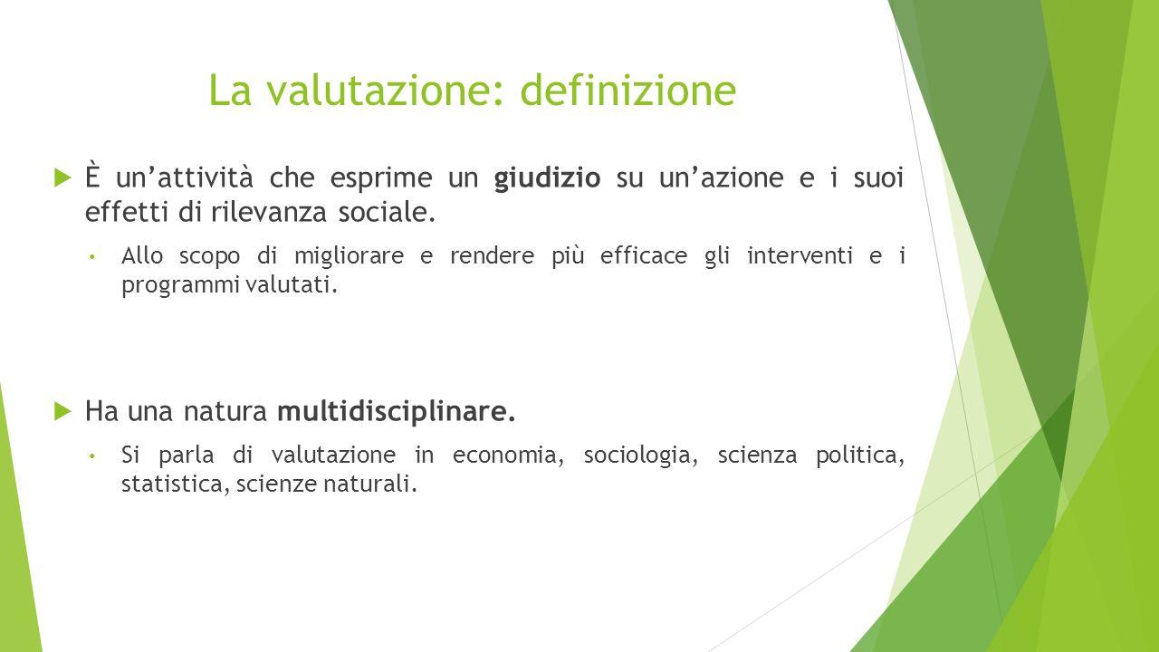 La valutazione: definizione