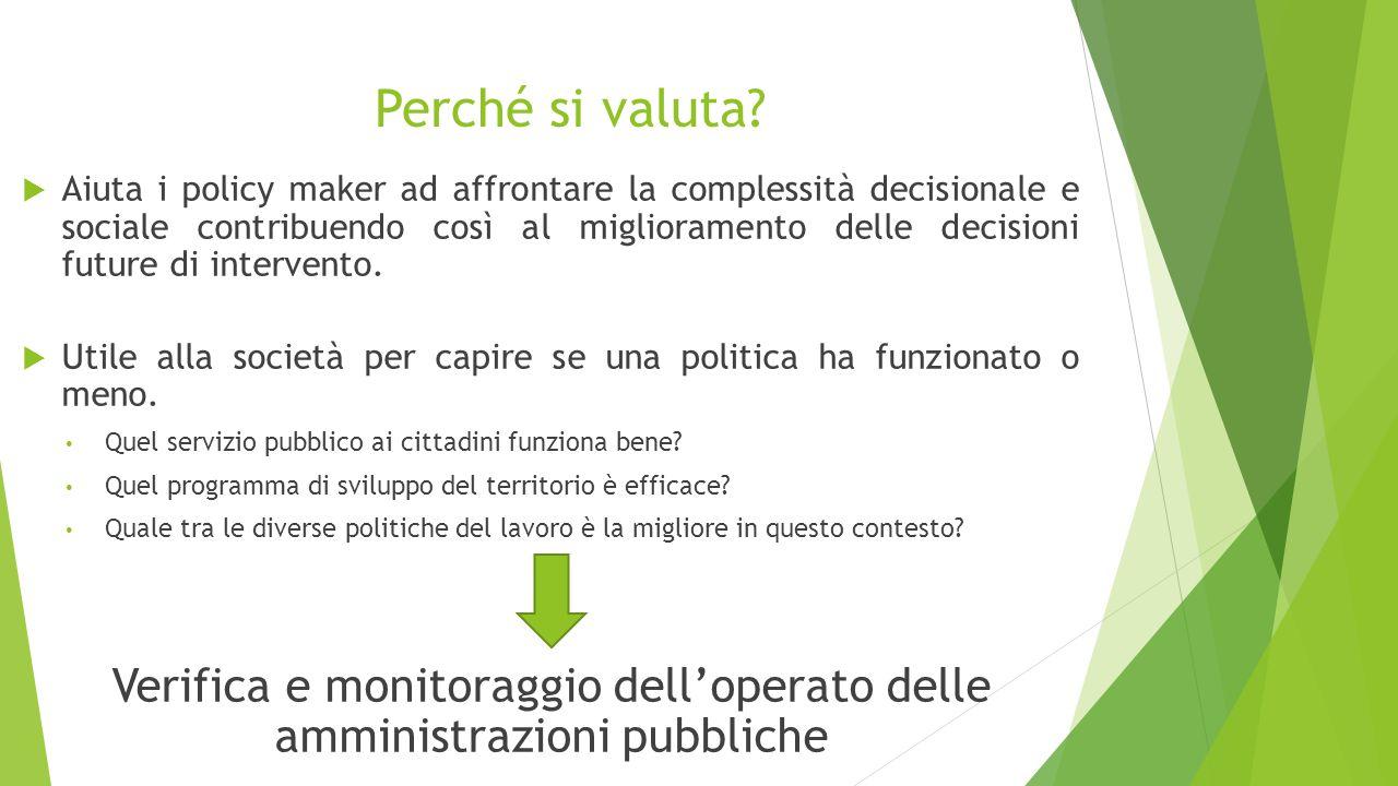 Verifica e monitoraggio dell'operato delle amministrazioni pubbliche