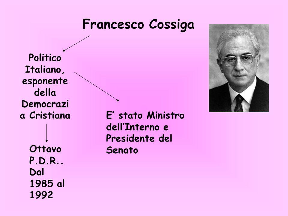 Politico Italiano, esponente della Democrazia Cristiana