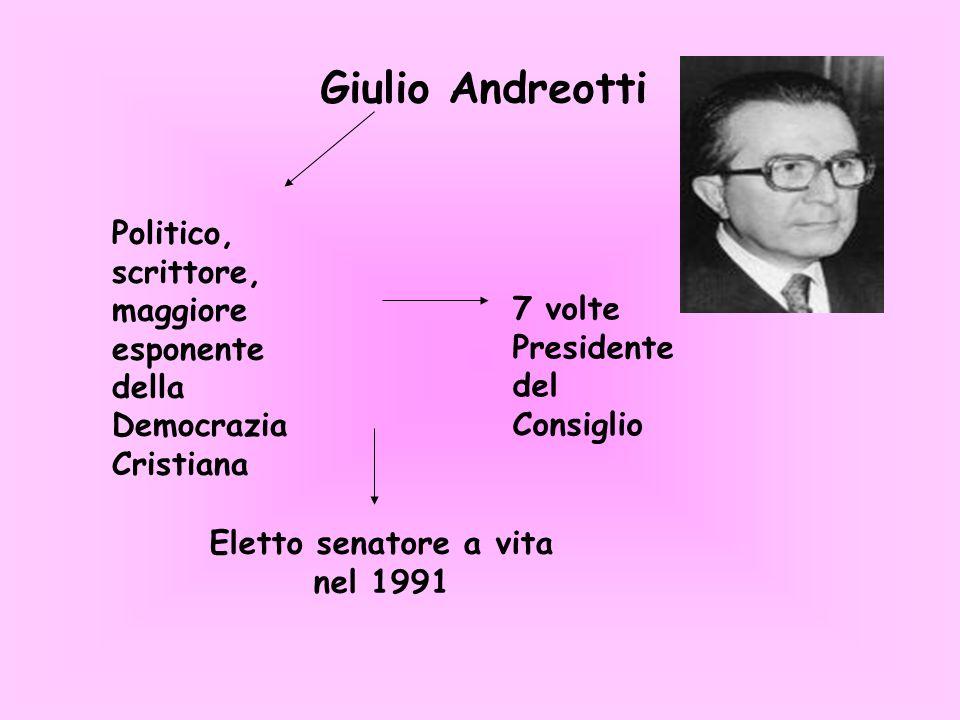 Eletto senatore a vita nel 1991