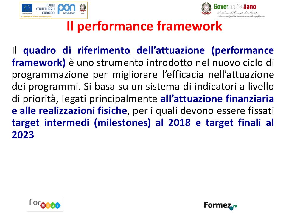 Il performance framework
