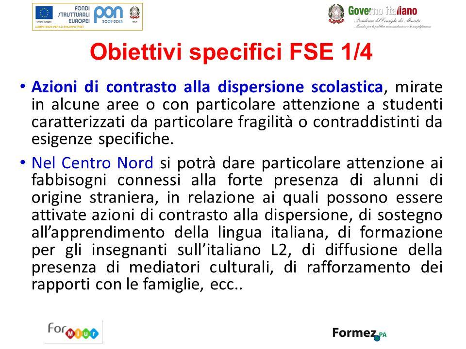 Obiettivi specifici FSE 1/4