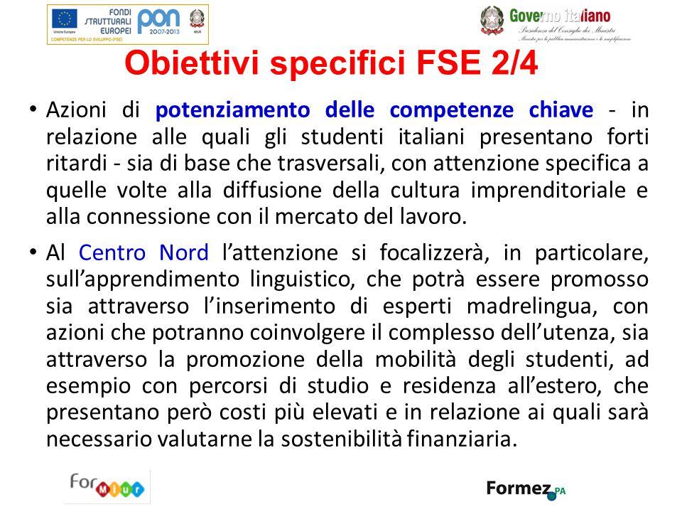 Obiettivi specifici FSE 2/4