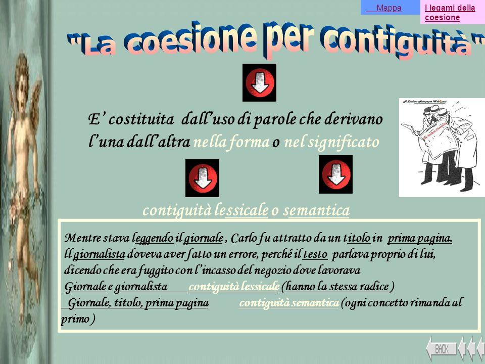 La coesione per contiguità