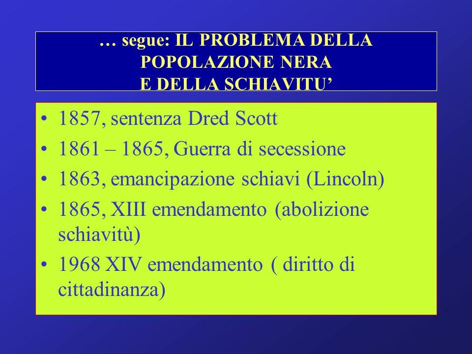… segue: IL PROBLEMA DELLA POPOLAZIONE NERA E DELLA SCHIAVITU'
