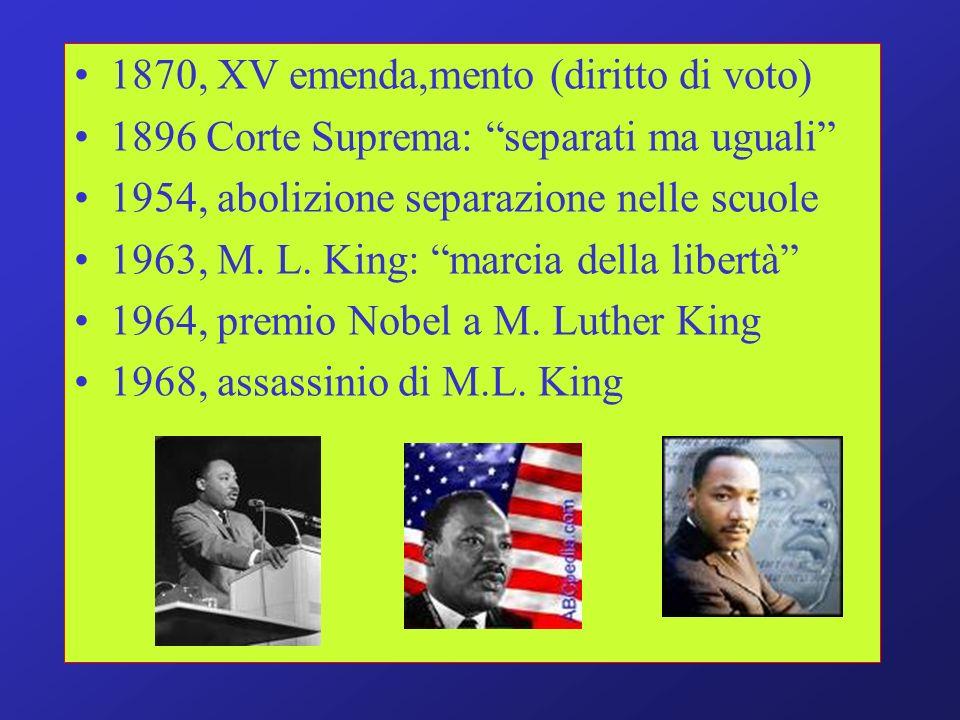 1870, XV emenda,mento (diritto di voto)