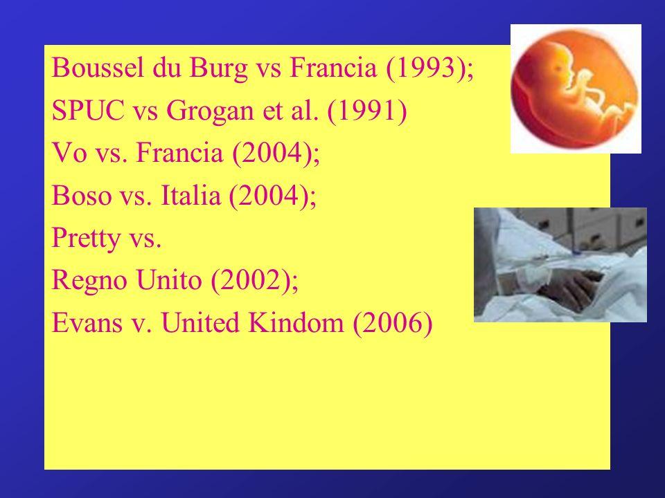 Boussel du Burg vs Francia (1993);