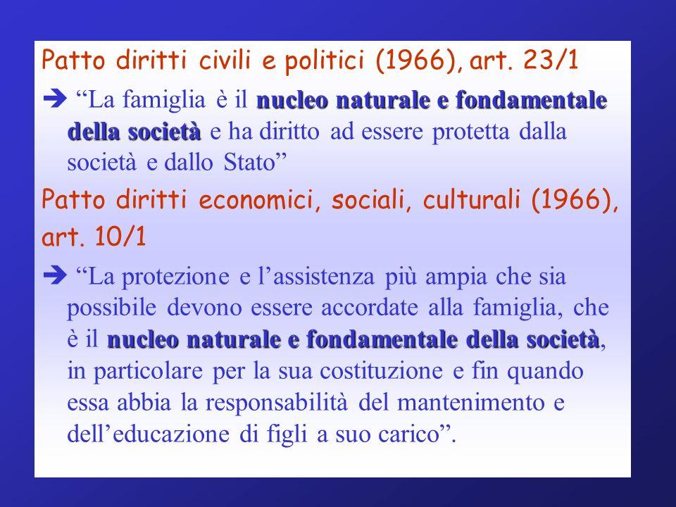Patto diritti civili e politici (1966), art. 23/1