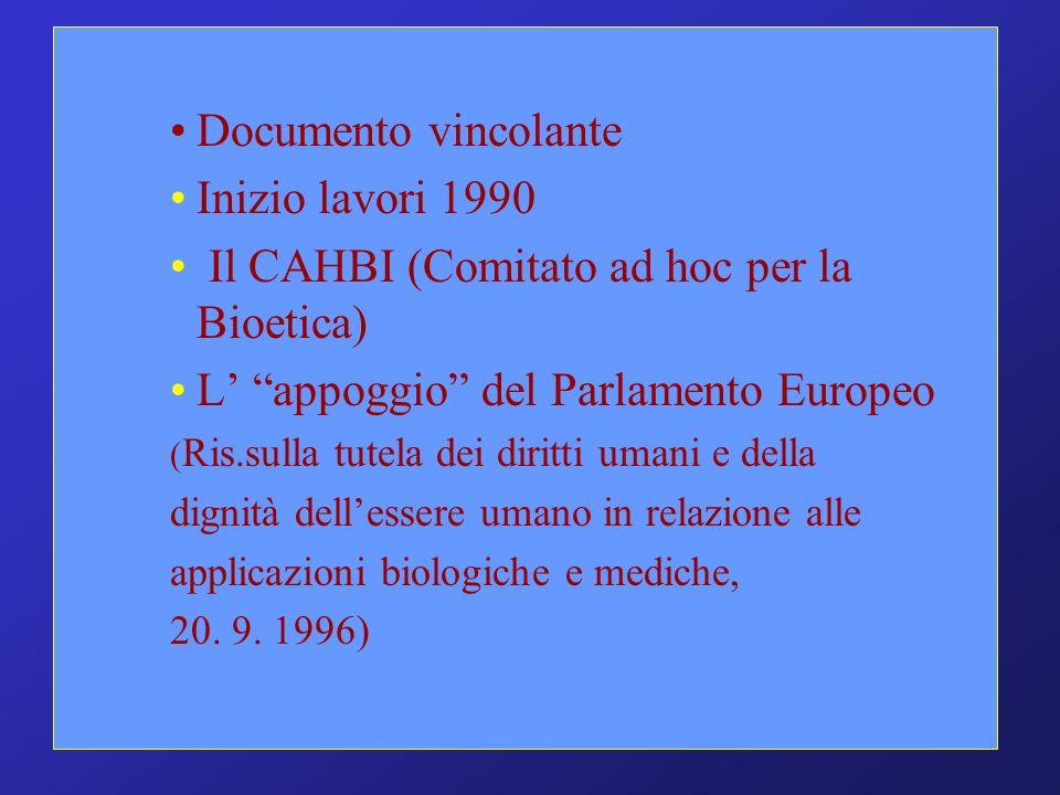 Il CAHBI (Comitato ad hoc per la Bioetica)