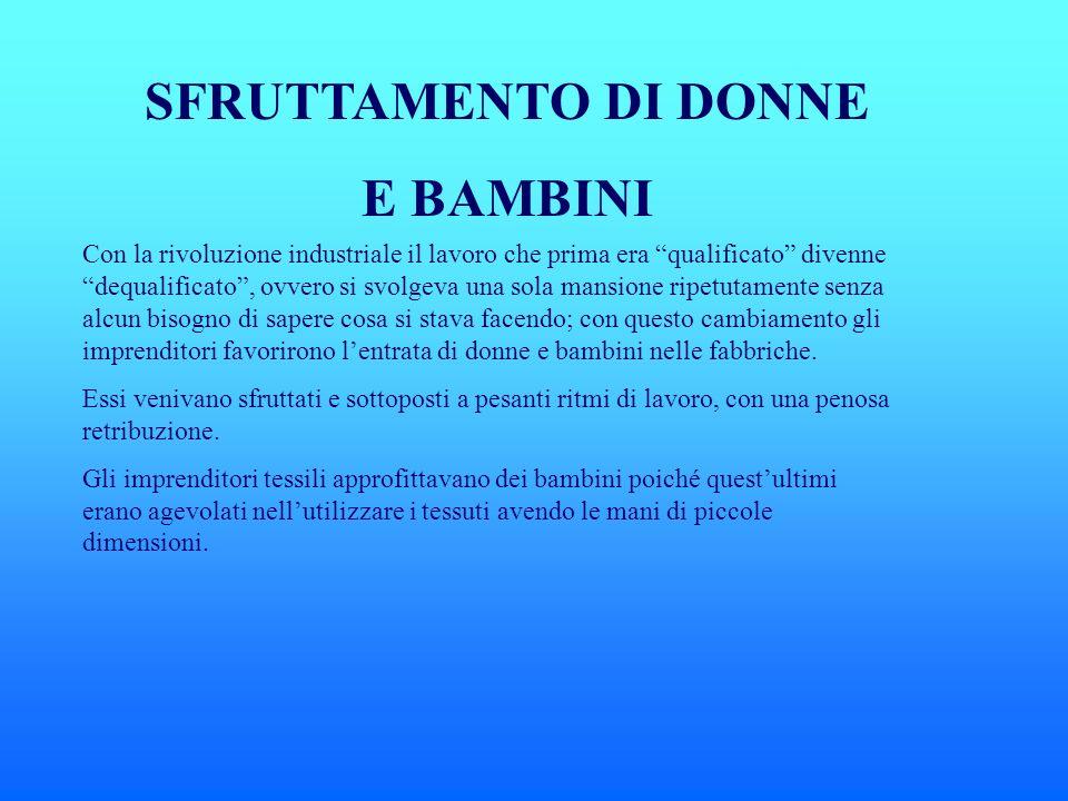 SFRUTTAMENTO DI DONNE E BAMBINI
