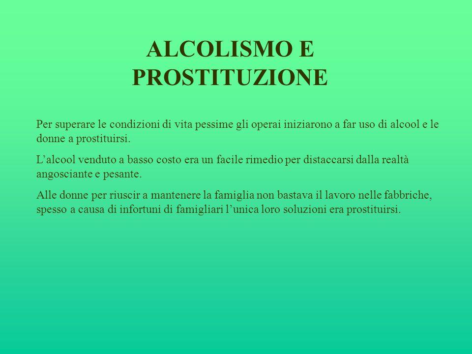 ALCOLISMO E PROSTITUZIONE