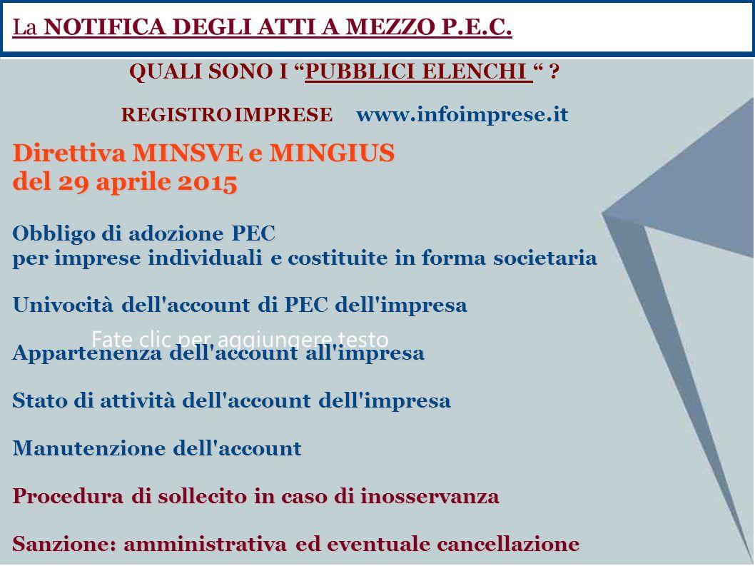 QUALI SONO I PUBBLICI ELENCHI REGISTRO IMPRESE www.infoimprese.it