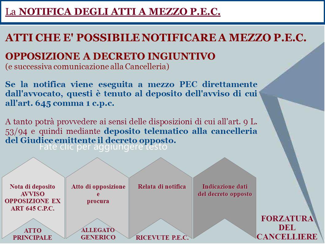 AVVISO OPPOSIZIONE EX ART 645 C.P.C.