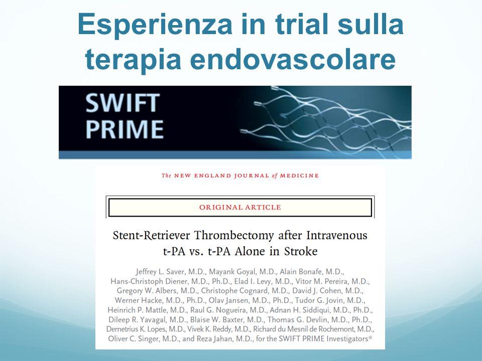 Esperienza in trial sulla terapia endovascolare