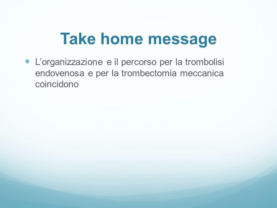 L'organizzazione e il percorso per la trombolisi endovenosa e per la trombectomia meccanica coincidono