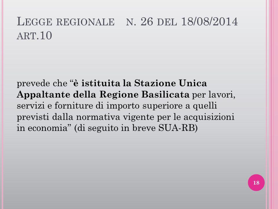 Legge regionale n. 26 del 18/08/2014 art.10
