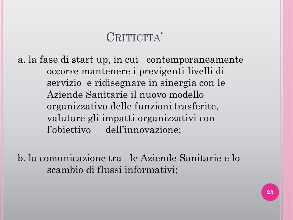 Criticita'