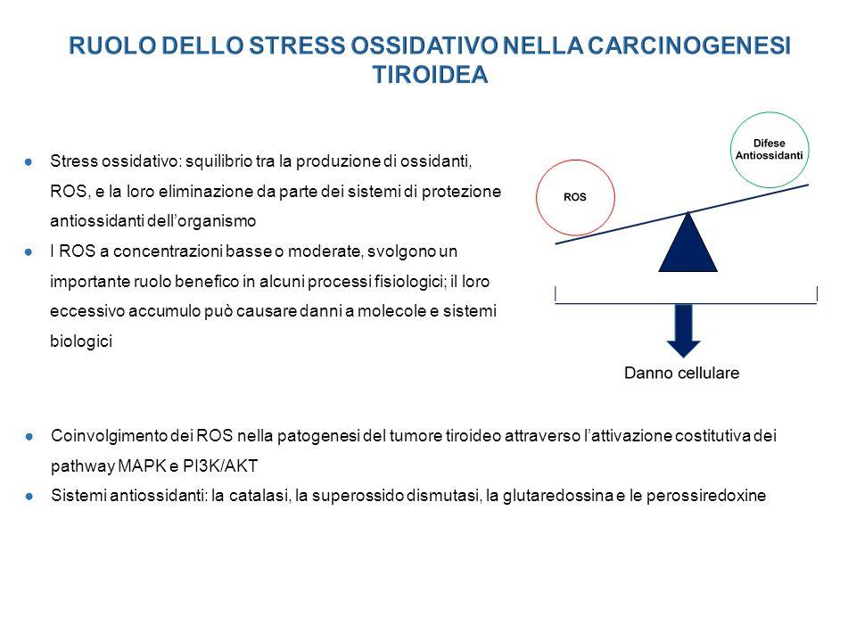 RUOLO DELLO STRESS OSSIDATIVO NELLA CARCINOGENESI TIROIDEA