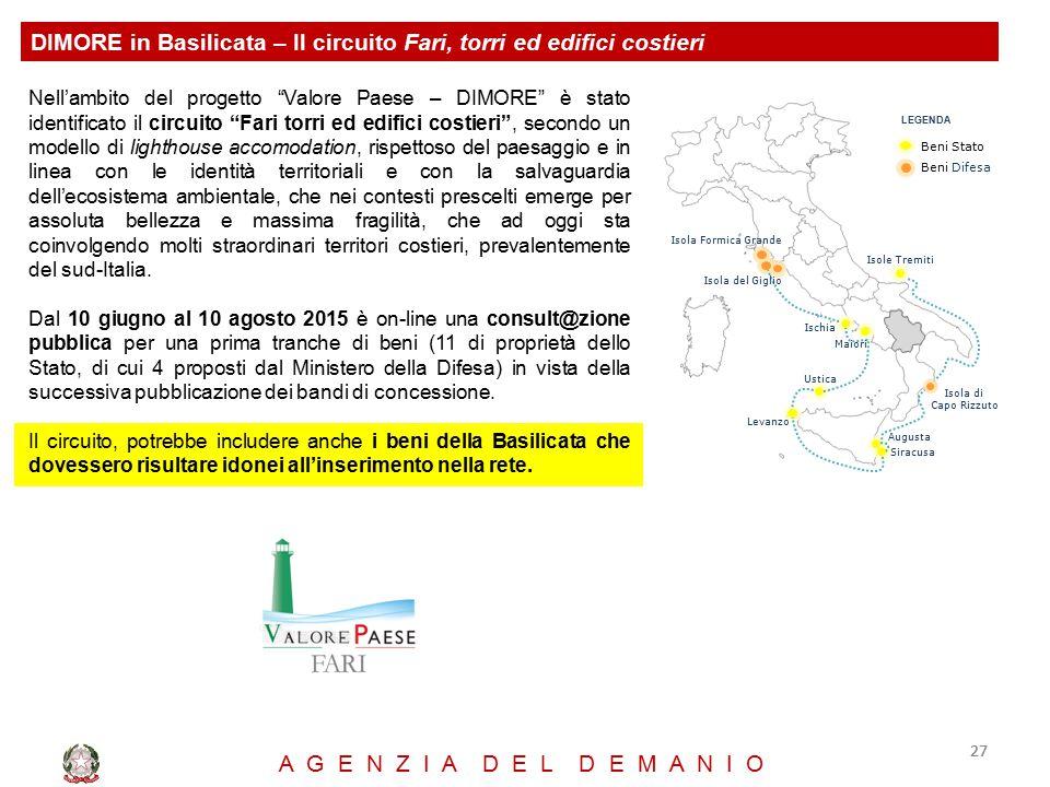 DIMORE in Basilicata – Il circuito Fari, torri ed edifici costieri