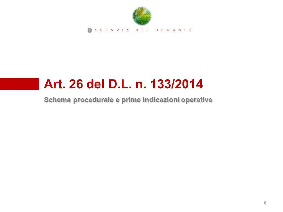 Art. 26 del D.L. n. 133/2014 Schema procedurale e prime indicazioni operative 9