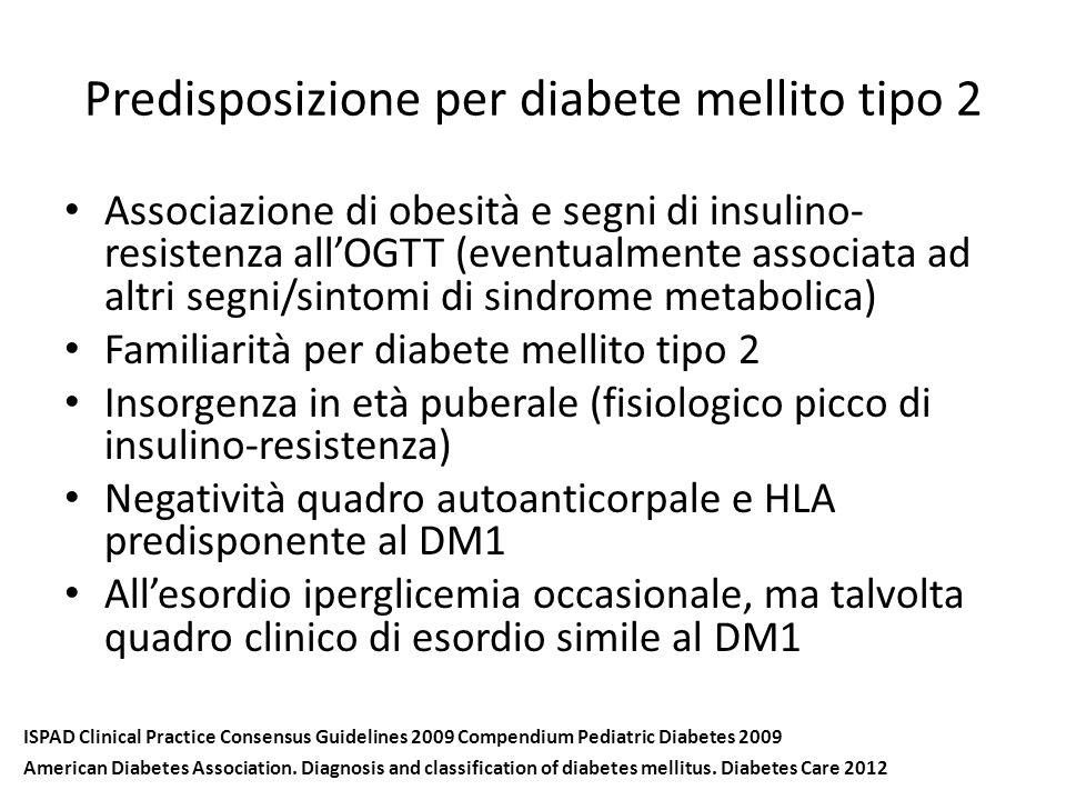 Predisposizione per diabete mellito tipo 2