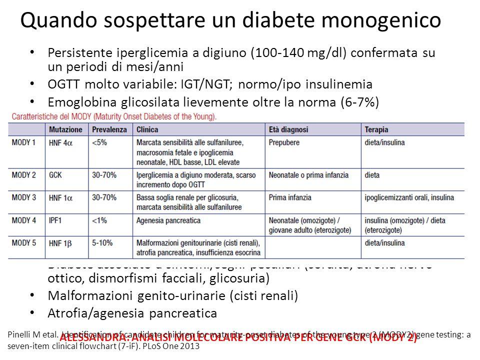 Quando sospettare un diabete monogenico