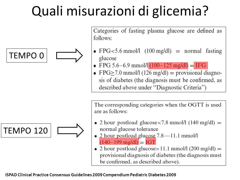 Quali misurazioni di glicemia