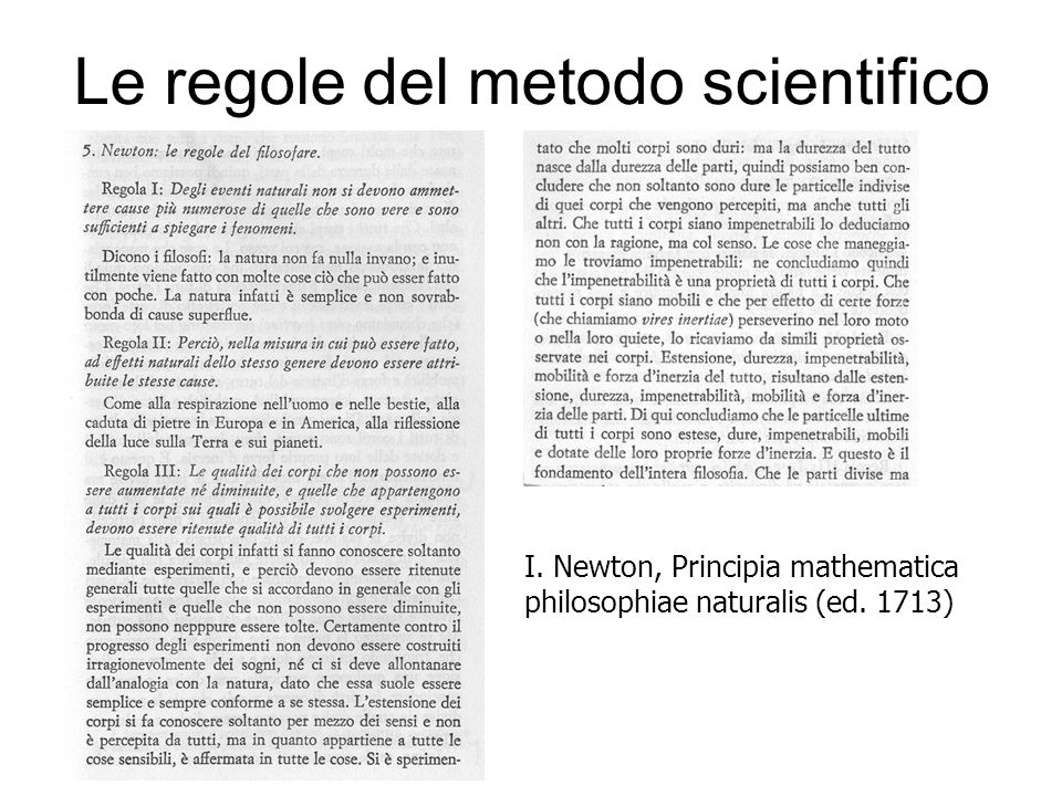Le regole del metodo scientifico