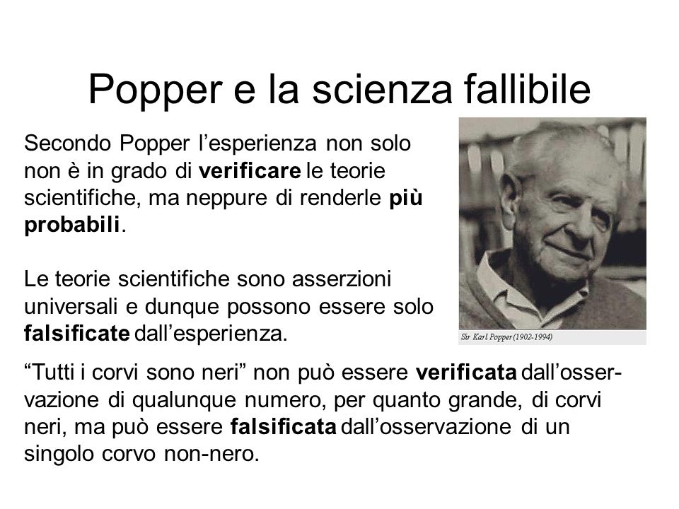 Popper e la scienza fallibile