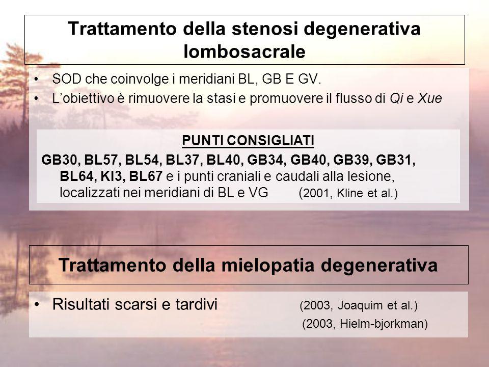 Trattamento della stenosi degenerativa lombosacrale