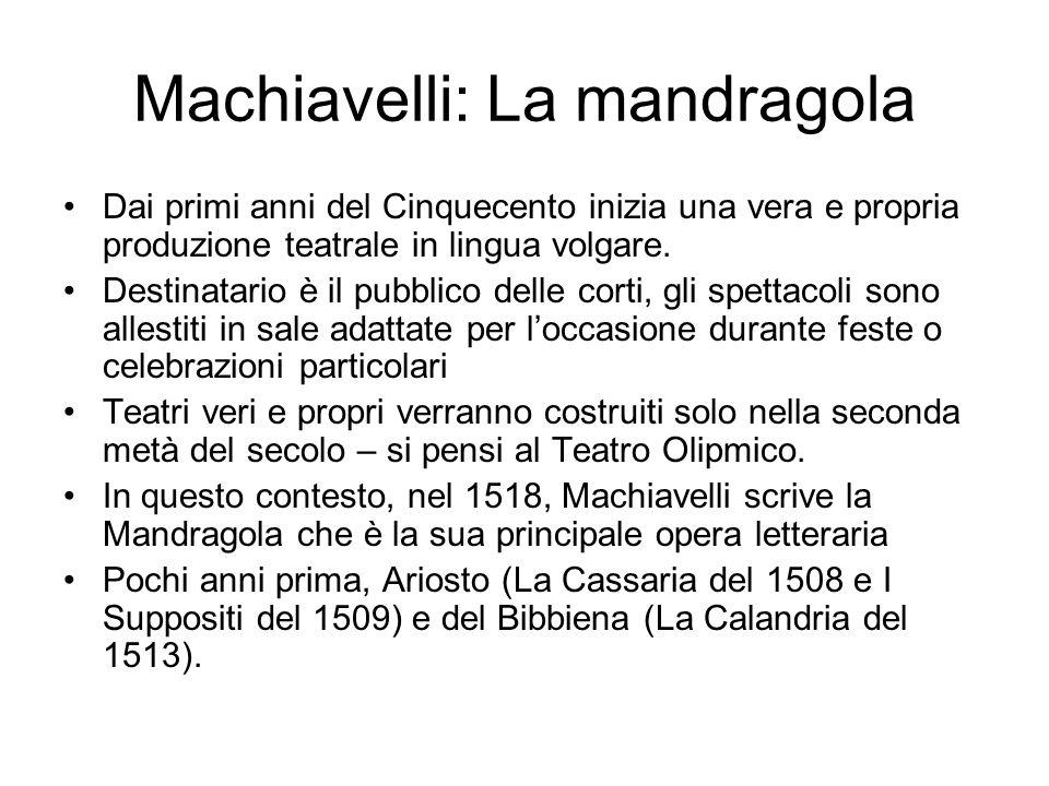 Machiavelli: La mandragola