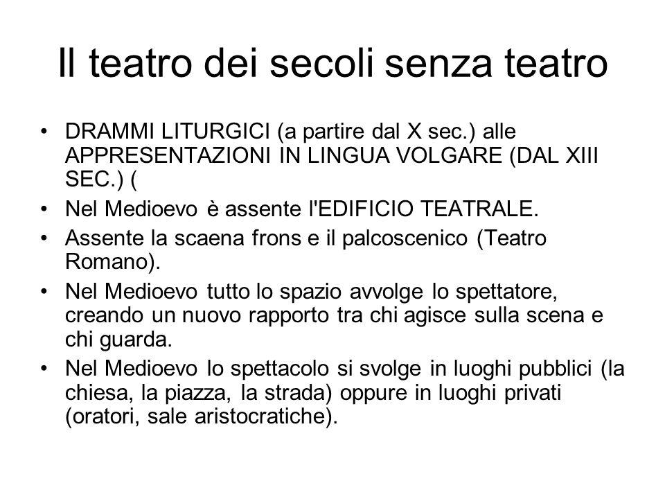 Il teatro dei secoli senza teatro