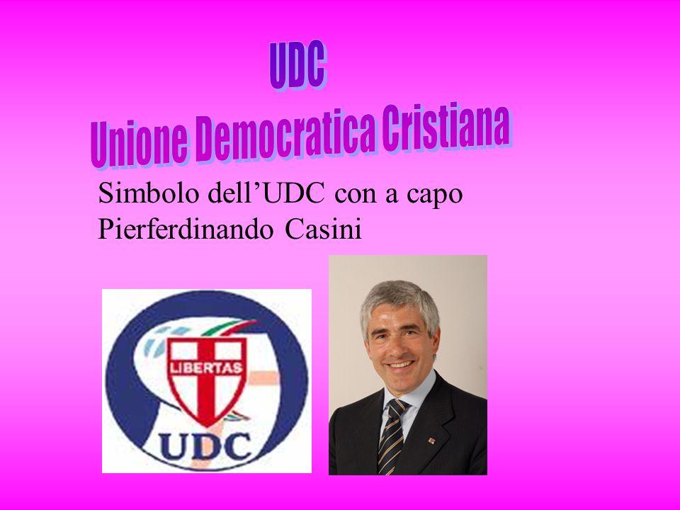 Simbolo dell'UDC con a capo Pierferdinando Casini