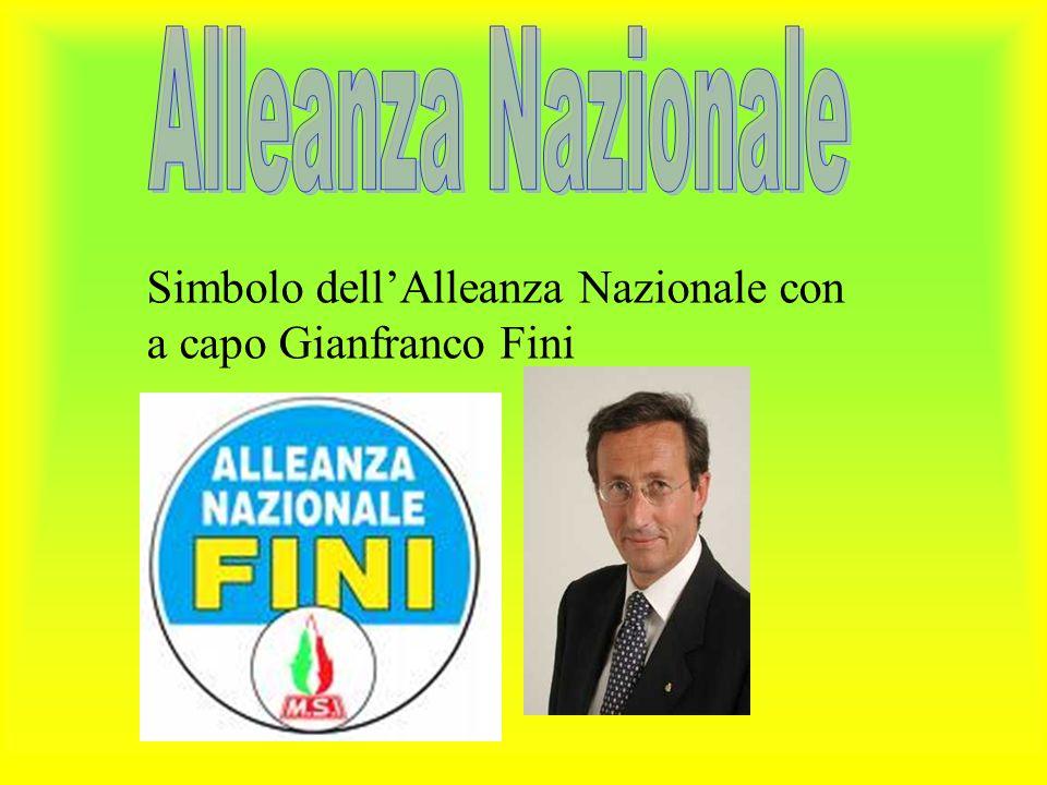 Simbolo dell'Alleanza Nazionale con a capo Gianfranco Fini