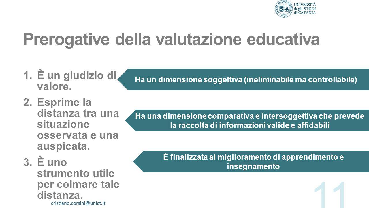 Prerogative della valutazione educativa