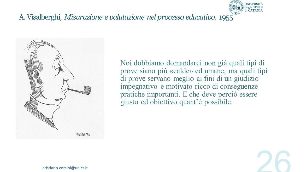 A. Visalberghi, Misurazione e valutazione nel processo educativo, 1955
