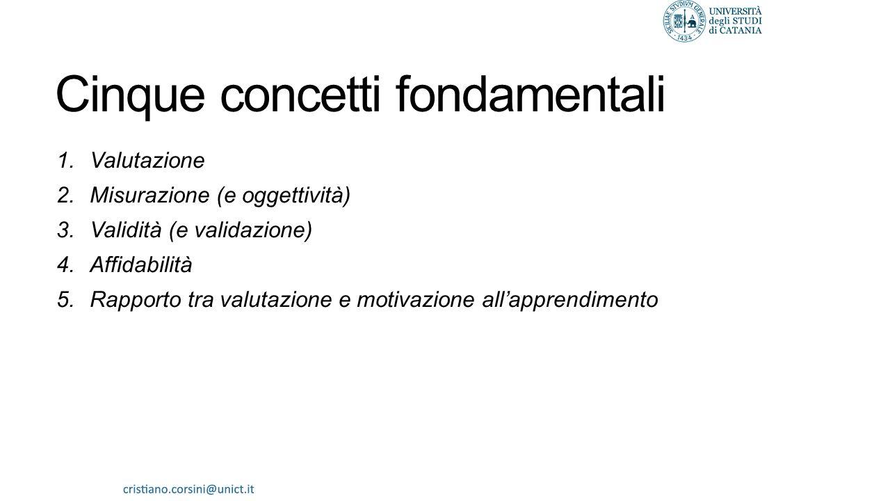 Cinque concetti fondamentali