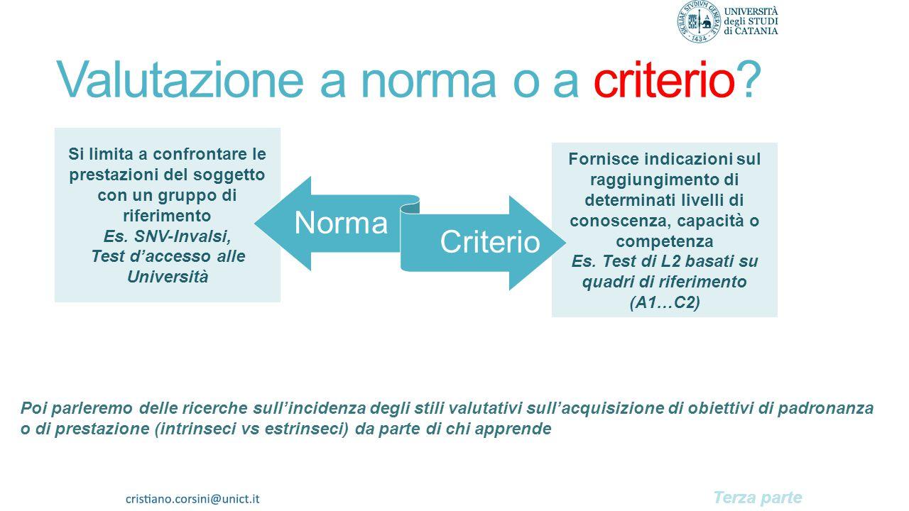 Valutazione a norma o a criterio