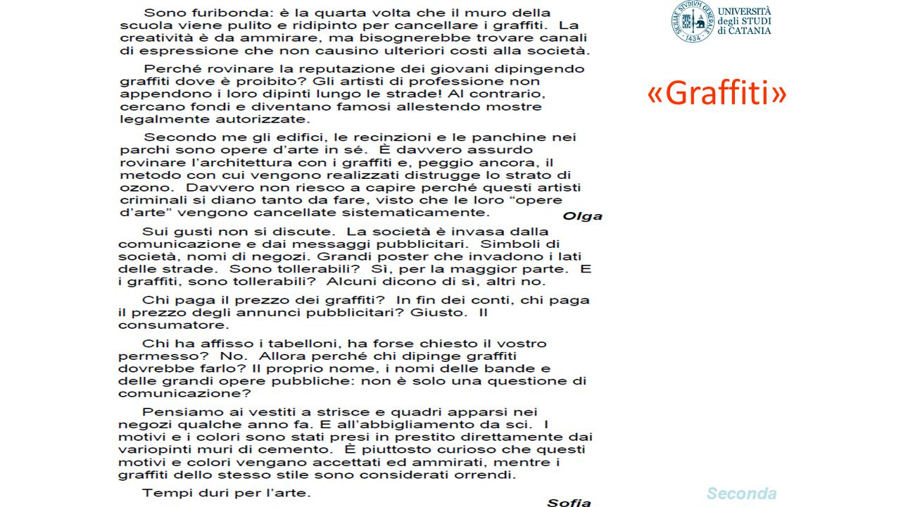 «Graffiti» Seconda parte