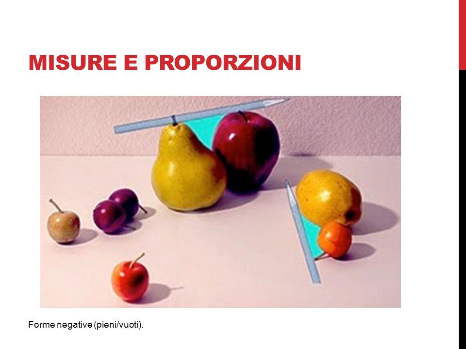 MISURE E PROPORZIONI Forme negative (pieni/vuoti).