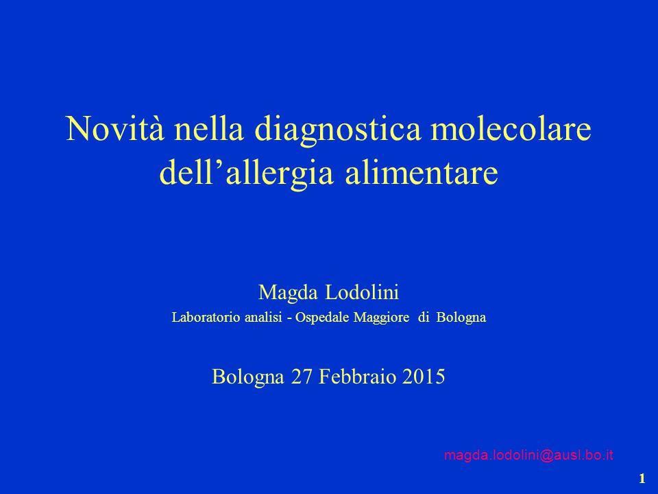 Novità nella diagnostica molecolare dell'allergia alimentare