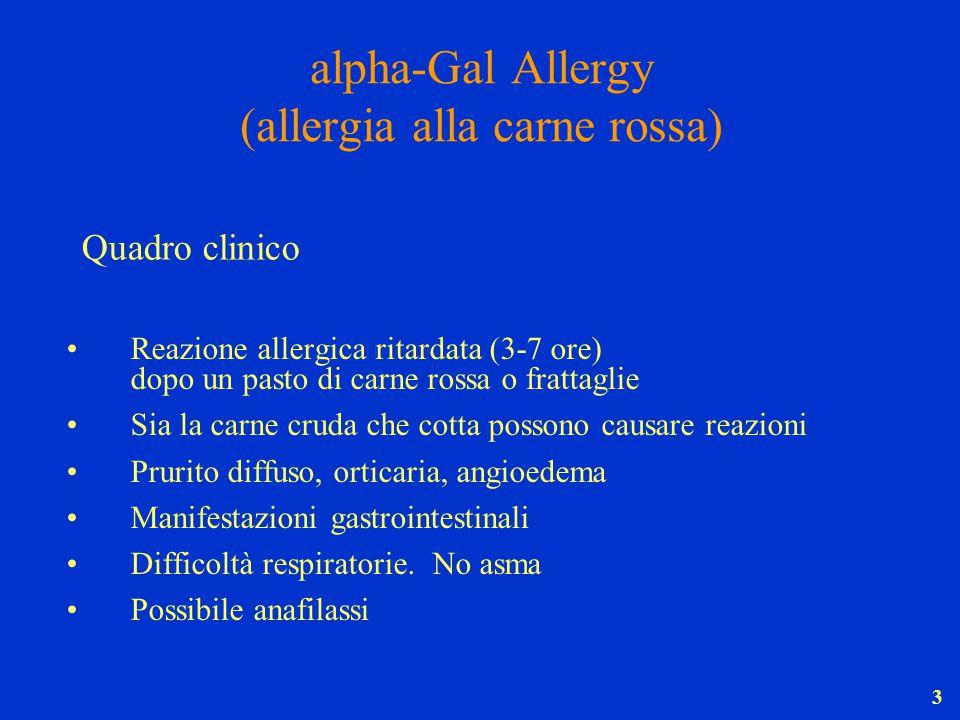 alpha-Gal Allergy (allergia alla carne rossa)