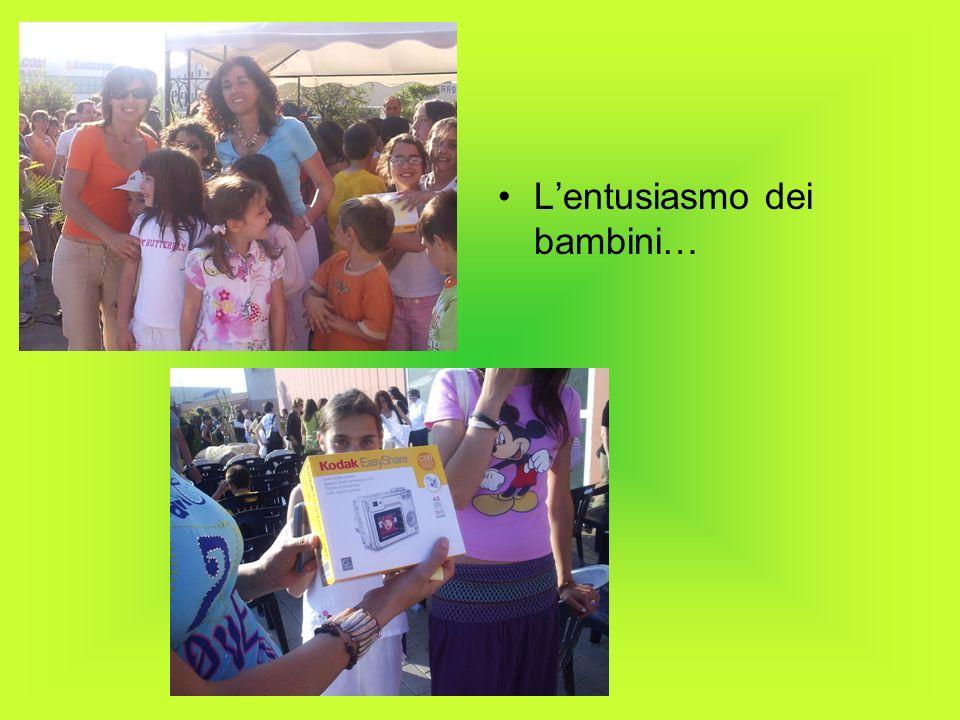 L'entusiasmo dei bambini…