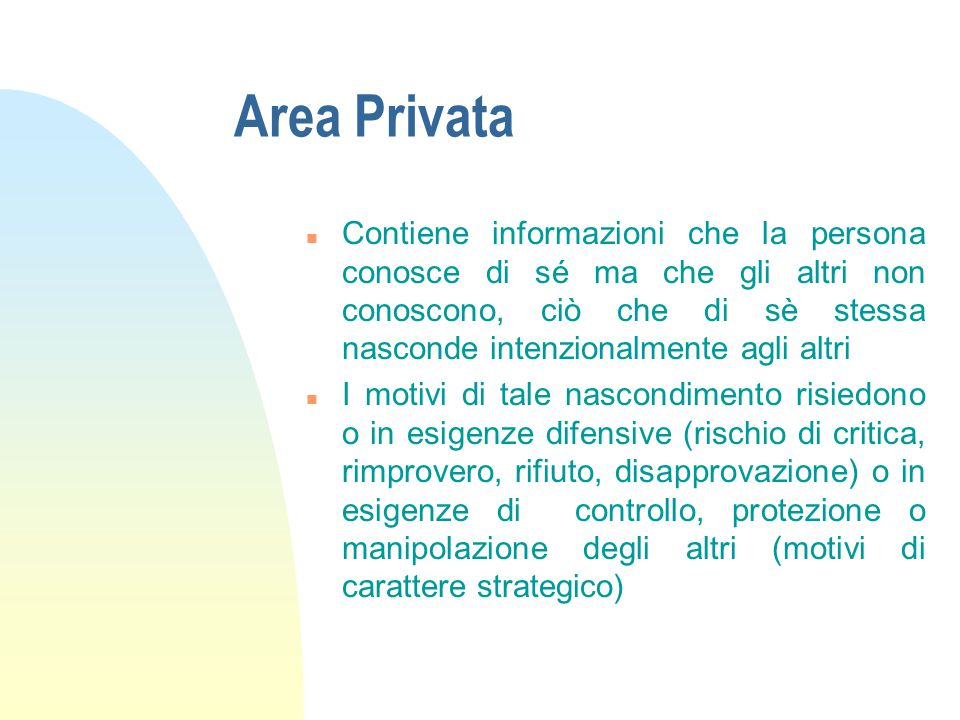 Area Privata