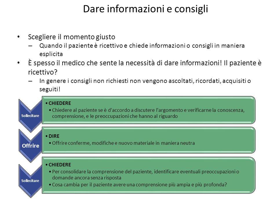 Dare informazioni e consigli