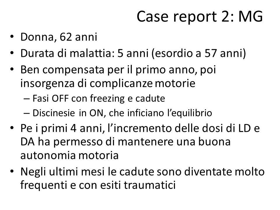 Case report 2: MG Donna, 62 anni