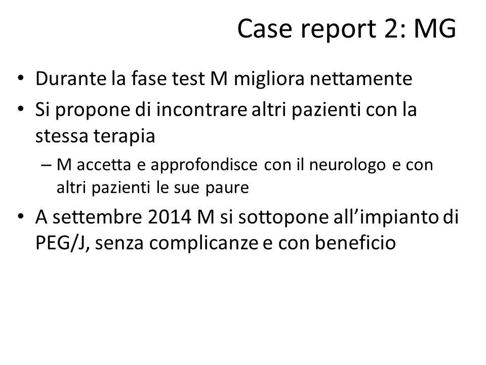 Case report 2: MG Durante la fase test M migliora nettamente