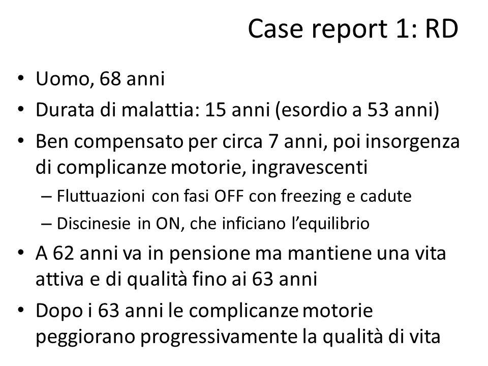 Case report 1: RD Uomo, 68 anni